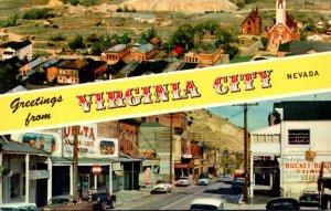 Nevada Greetings From Virginia City Multi View