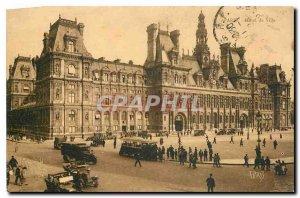 Old Postcard Paris City Hall