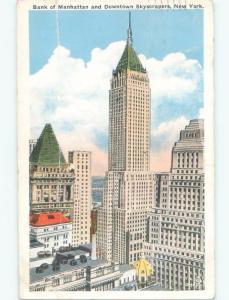Bent W-Border BANK OF MANHATTAN BUILDING New York City NY E4972