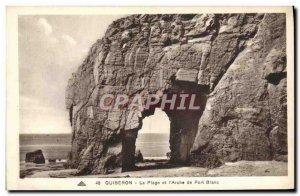 Old Postcard The Quiberon Beach and L & # 39Arche White Port