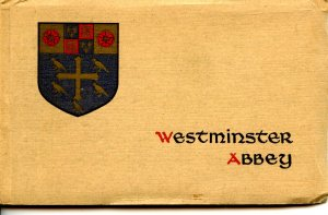 Westminster Abbey, London. (12 cards, sepia) Complete Set