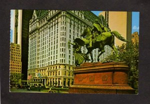 NY Grand Army Plaza Hotel General Sherman Statue New York City Postcard