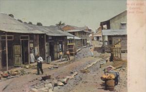 Panama Canal Zone Old Street Scene In Culebra