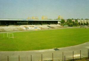 poland, OLSZTYN, Stadion O.K.S. Stomil (1993) Stadium Postcard