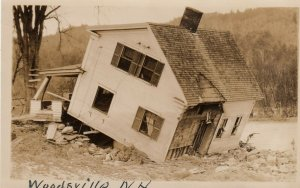 RP: WOODSVILLE , New Hampshire, 1910s ; Home after Flood