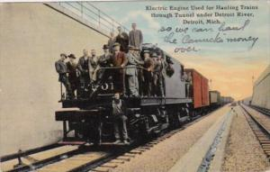 Electric Engine Used For Hauling Trains Through Tunnel Under Detroit River De...