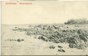 Sweden, Arildslage, Strandparti, early 1900s unused Postcard
