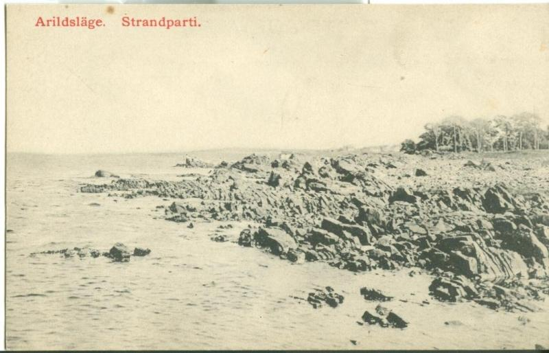 Sweden, Arildslage, Strandparti, early 1900s unused Postcard
