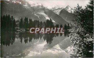 Modern Postcard Chamonix Haute Savoie Mont Blanc from Lake Gaillands