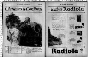 1924 Radiola Radio Radios Christmas Vintage Print Ad 4017
