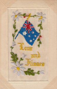 EMBROIDERED ; Love & Kisses , Flag , 00-10s