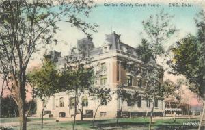 C-1908 Garfield County Court House Enid Oklahoma postcard 9634