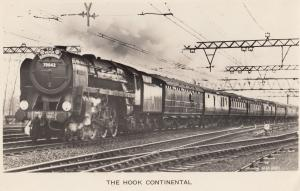 The Hook Continental Train Harwich Shenfield Railway Station Real Photo Postcard