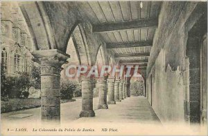 Old Postcard Laon Colonnade Courthouse