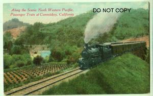 N.W.P. RR Passenger Train at Cummiskey Cal