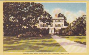 Massachusetts Cambridge Home Of James Russell Lowell Built 1767