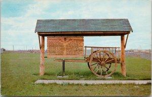 Red River Cart Swift Current Saskatchewan SK Rotary Club 1960s Postcard F12
