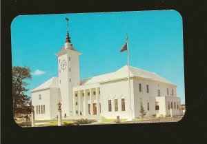 City Hall Hamilton Bermuda 1960's Color Postcard Unposted