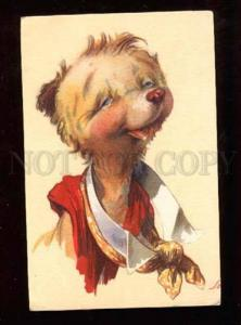 021151 Dressed TEDDY BEAR as Scout Portrait Old COMIC PC