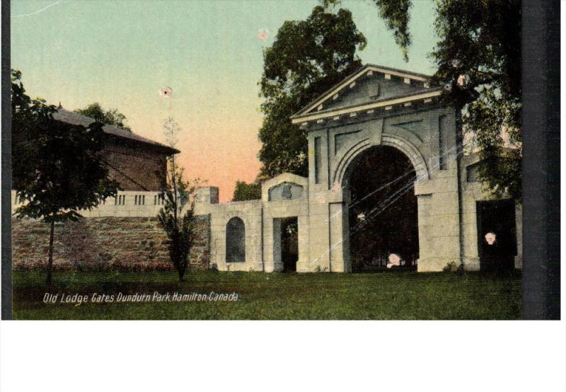 HAMILTON, Ontario, Canada, 1900-1910's; Old Lodge Gates Dundurn Park