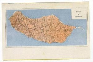 Map, Island Of Madeira, Portugal, 1900-1910s