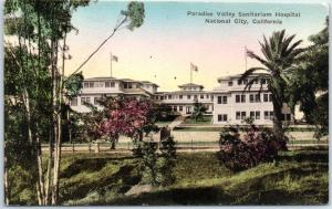 Paradise Valley Sanitarium CA Postcard Hospital Building Hand-Colored Albertype