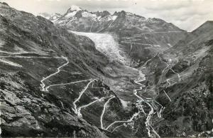Switzerland Gletsch mit Grimsel und Furkastrasse Furka Passhohe