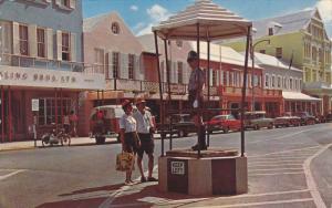 HAMILTON, Bermuda, 1940-1960´s; The Policeman Who Directs Traffic
