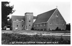 Depew New York~St John Lutheran Church c1950 RPPC Postcard