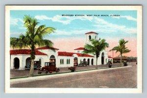 West Palm Beach FL, Seaboard Station, Florida Vintage Postcard