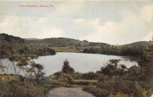 Canton Pennsylvania~Lake Nepahwin (from Trail)~Farmland Bknd~1910 Postcard