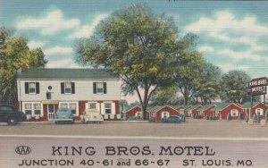 ST. LOUIS  , Missouri , 1930-40s ; Route 66 / RT 66, King Bros. Motel