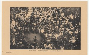 Benin; Dahomey, Porto Novo, 14th July, The Tam-Tam PPC, By ER, Unused, c 1920's