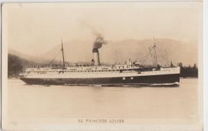 SHIP Postcard 1945 SS PRINCESS LOUISE Real Photo RPPC Steamer Canada Alaska