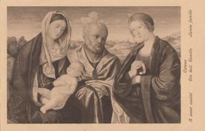 Holy Family by Catena early art postcard