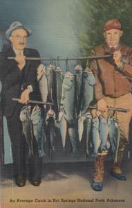 HOT SPRINGS , Arkansas , 30-40s ; Fish Catch