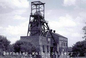 Postcard Barnsley Main Colliery Pit Head Winding Gear, Coal Mine History 52O
