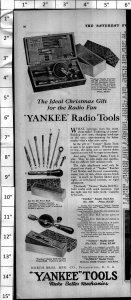 1924 Yankee Tools Radio Tools Vintage Print Ad 3993