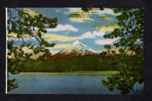 OR Vintage Lake of the Woods Mt McLoughlin nr Klamath Falls Oregon Postcard PC