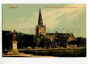 271018 SINGAPORE St.Andrews cathedral Vintage Hilckes postcard