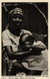 PC CPA MOZAMBIQUE, LOURENCO MARQUES, NATIVE TRIBES, VINTAGE POSTCARD (b20782)