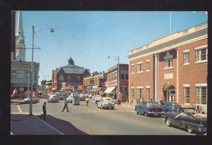 BEVERLY MASSACHUSETTS DOWNTOWN STREET SCENE 1940's CARS