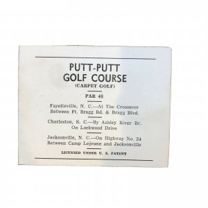 PUTT PUTT Golf Course  - 1950s - Brochure - NC NORTH CAROLINA - Vintage