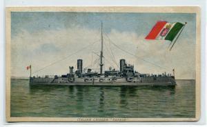 Italian Navy Cruiser Ship Varese Italy 1910c postcard