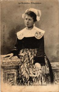 CPA Jeune fille de PONT-AVEN (253115)