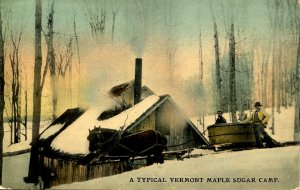 VT - Maple Sugaring. Camp, Sled