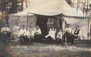 RP: RACINE , Wisconsin , 1910 ; Chautauqua H.B. Hall Tent