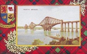 SCOTLAND, 1900-1910s; Forth Bridge, Mackintosh Tartan Border