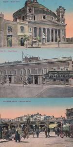 Malta The Royal Palace Musta Doma Mercato Marina Markets 3x Old Postcard s