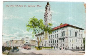 Worcester, Mass, City Hall and Main St.